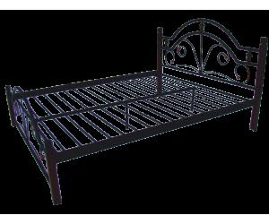 ДИАНА НА ДЕРЕВЯННЫХ НОЖКАХ - металлическая кровать ТМ МЕТАЛЛ-ДИЗАЙН