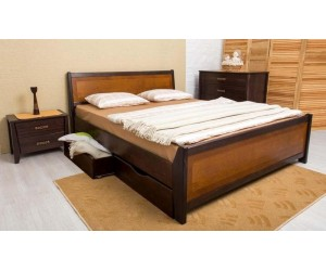 СИТИ с интарсией и ящиками - кровать ТМ ОЛИМП фото