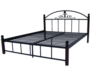 КАССАНДРА НА ДЕРЕВЯННЫХ НОЖКАХ - металлическая кровать ТМ МЕТАЛЛ-ДИЗАЙН