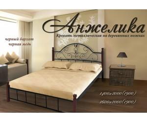 АНЖЕЛИКА НА ДЕРЕВЯННЫХ НОЖКАХ - металлическая кровать ТМ МЕТАЛЛ-ДИЗАЙН фото