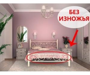 ГЛОРИЯ без изножья - металлическая кровать ТМ SKAMYA