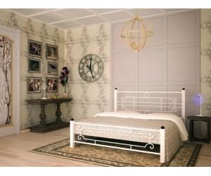 ВИНТАЖ (квадратные ноги) - металлическая кровать ТМ SKAMYA фото
