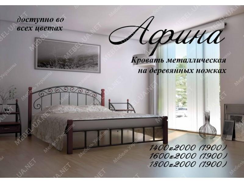 АФИНА НА ДЕРЕВЯННЫХ НОЖКАХ - металлическая кровать ТМ МЕТАЛЛ-ДИЗАЙН фото