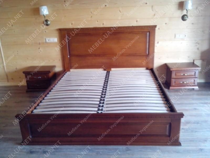 ЭЛИТ ПЛЮС - кровать из дуба ТМ ARTmebli (Украина) фото