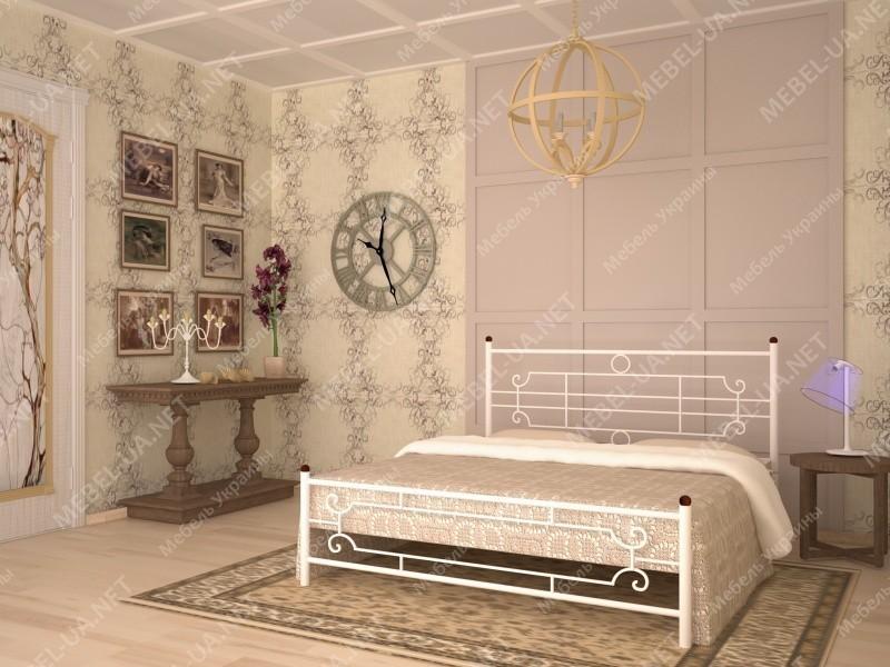 ВИНТАЖ (круглые ноги) - металлическая кровать ТМ SKAMYA фото