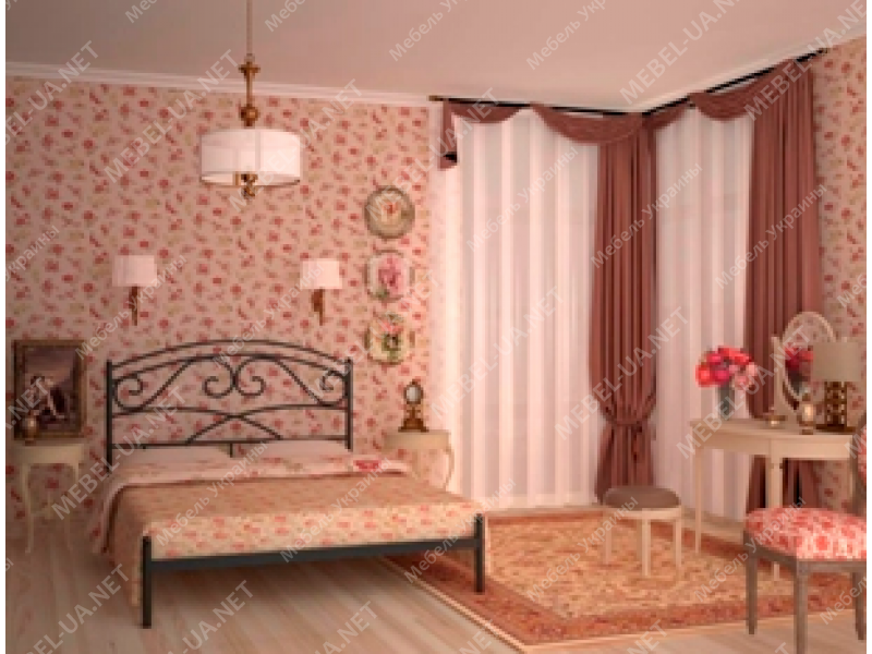 ЛЕЙЛА без изножья - металлическая кровать ТМ SKAMYA фото